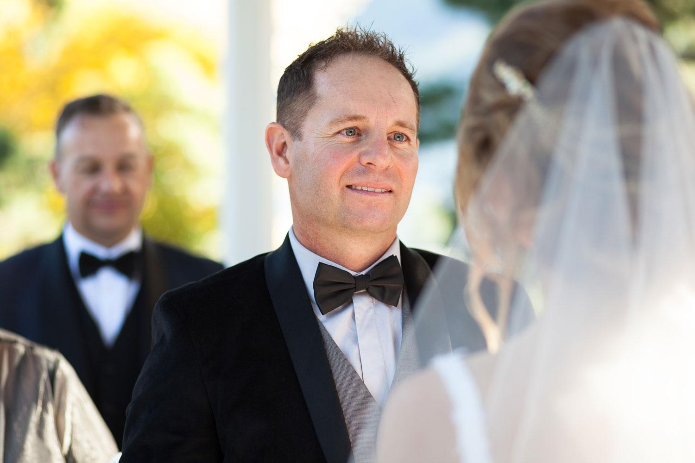 queenstown wedding groom reaction