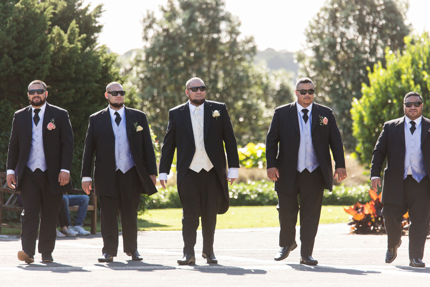 auckland botanic gardens wedding the boys