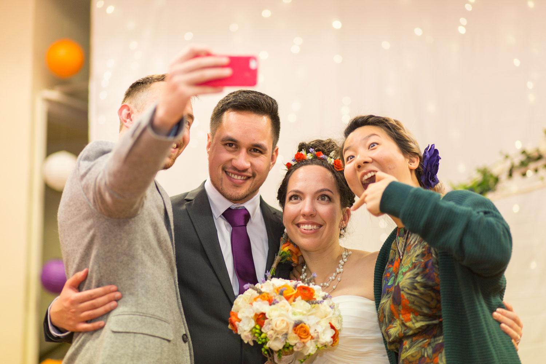 auckland maraetai wedding couple selfies