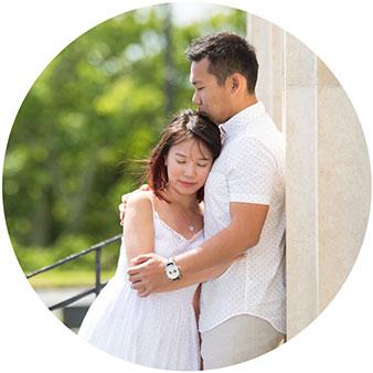 auckland domain singapore couple engagement shoot