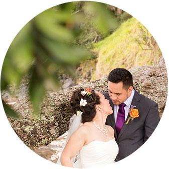 maraetai beach wedding photo