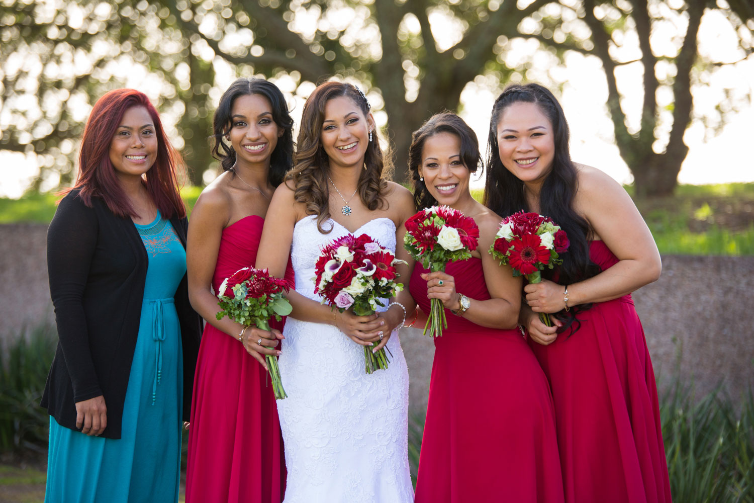 auckland wedding bridesmaids photo