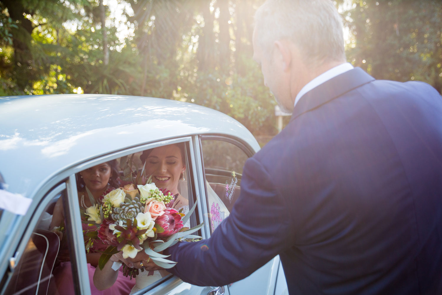 father sending bride off