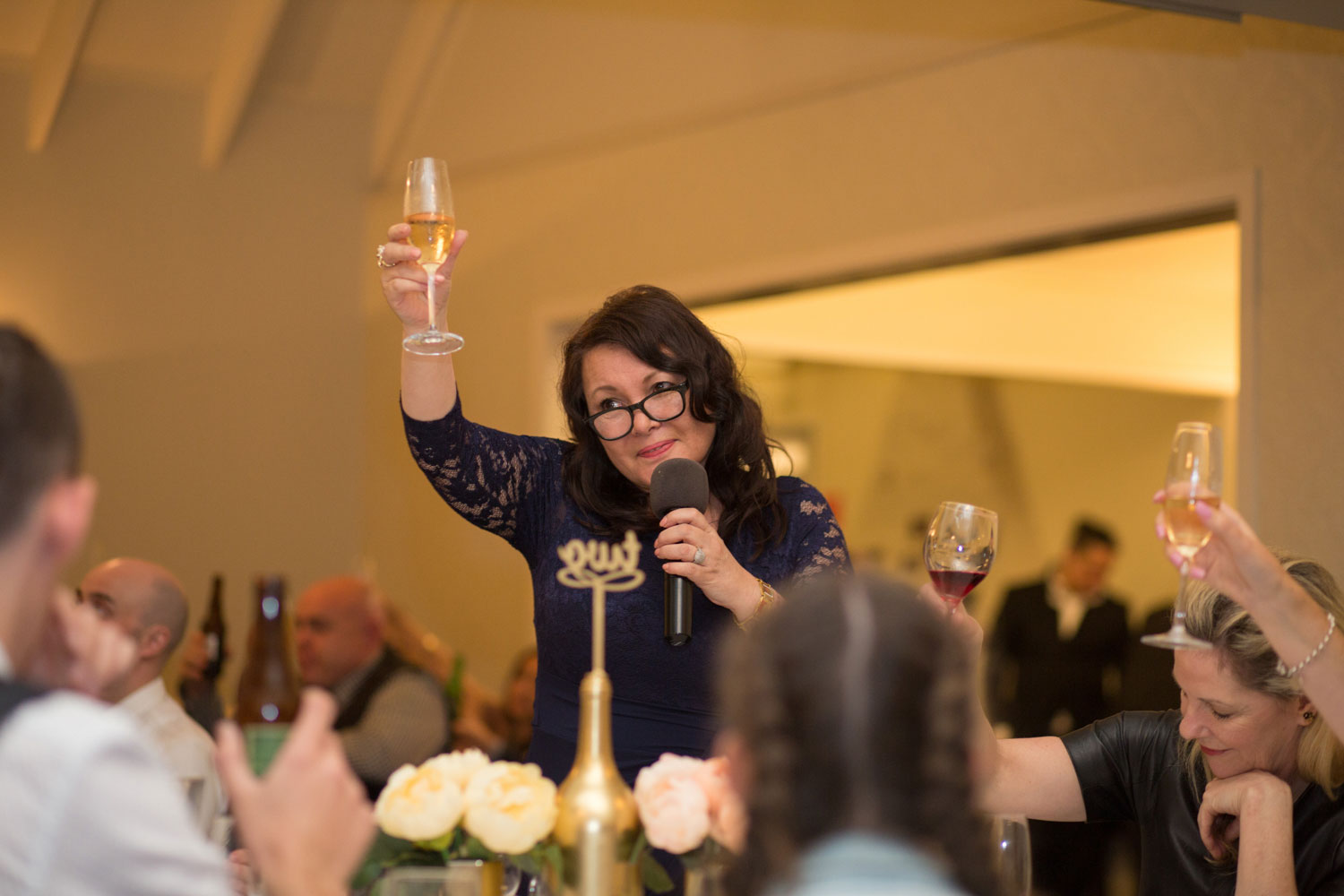 mother of the groom toast at gracehill auckland wedding