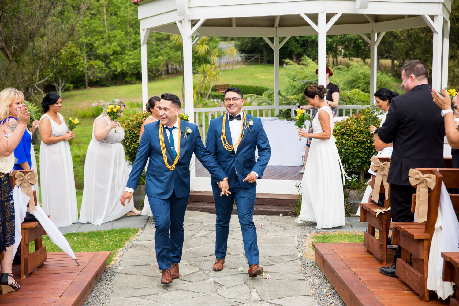 gracehill auckland wedding couple walking off