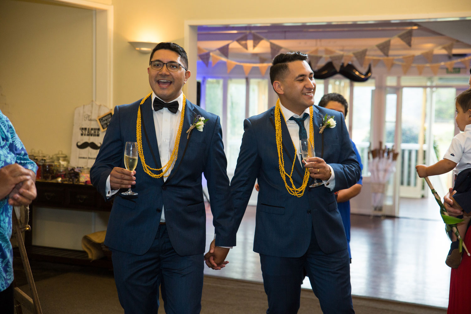 gracehill auckland wedding couple introduced into the reception