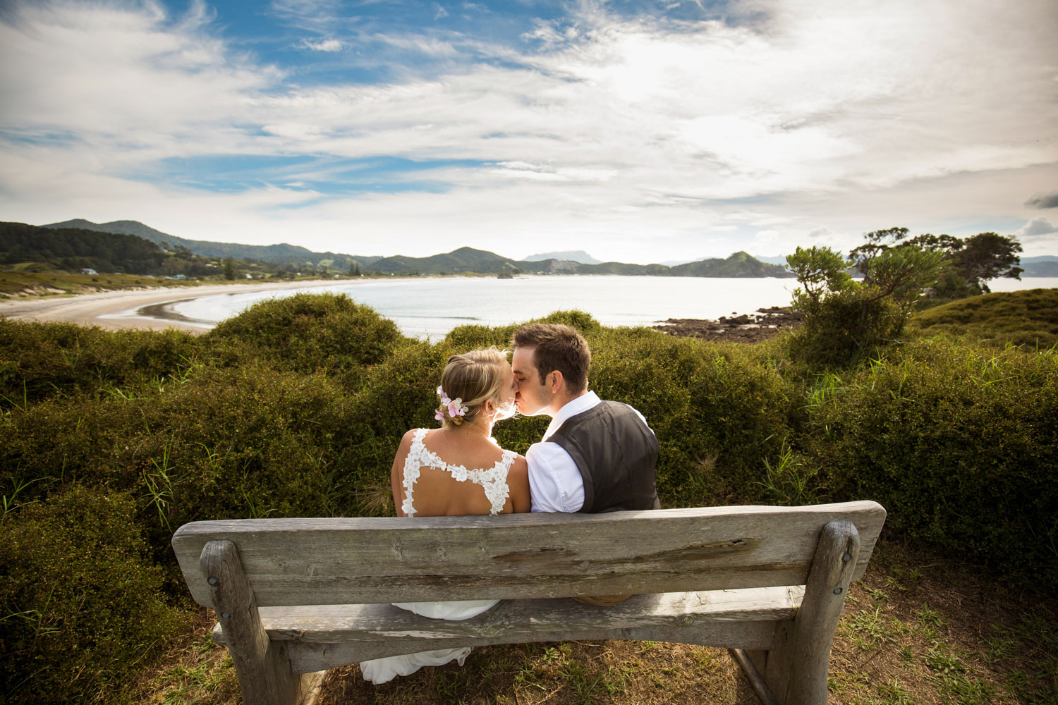new zealand wedding great barrier island photo