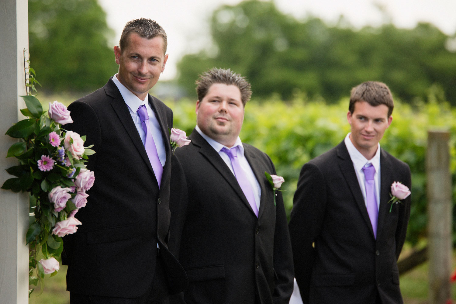 groomsmen wedding ceremony