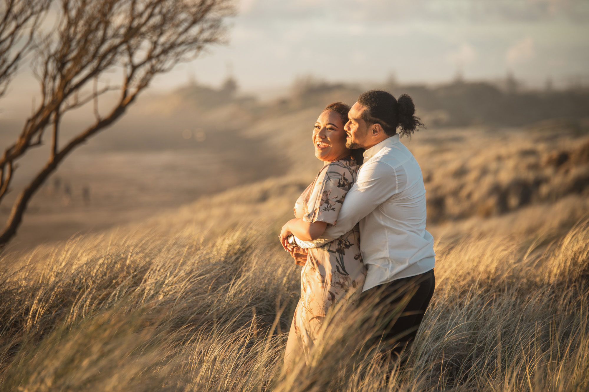 auckland couple session during sunset