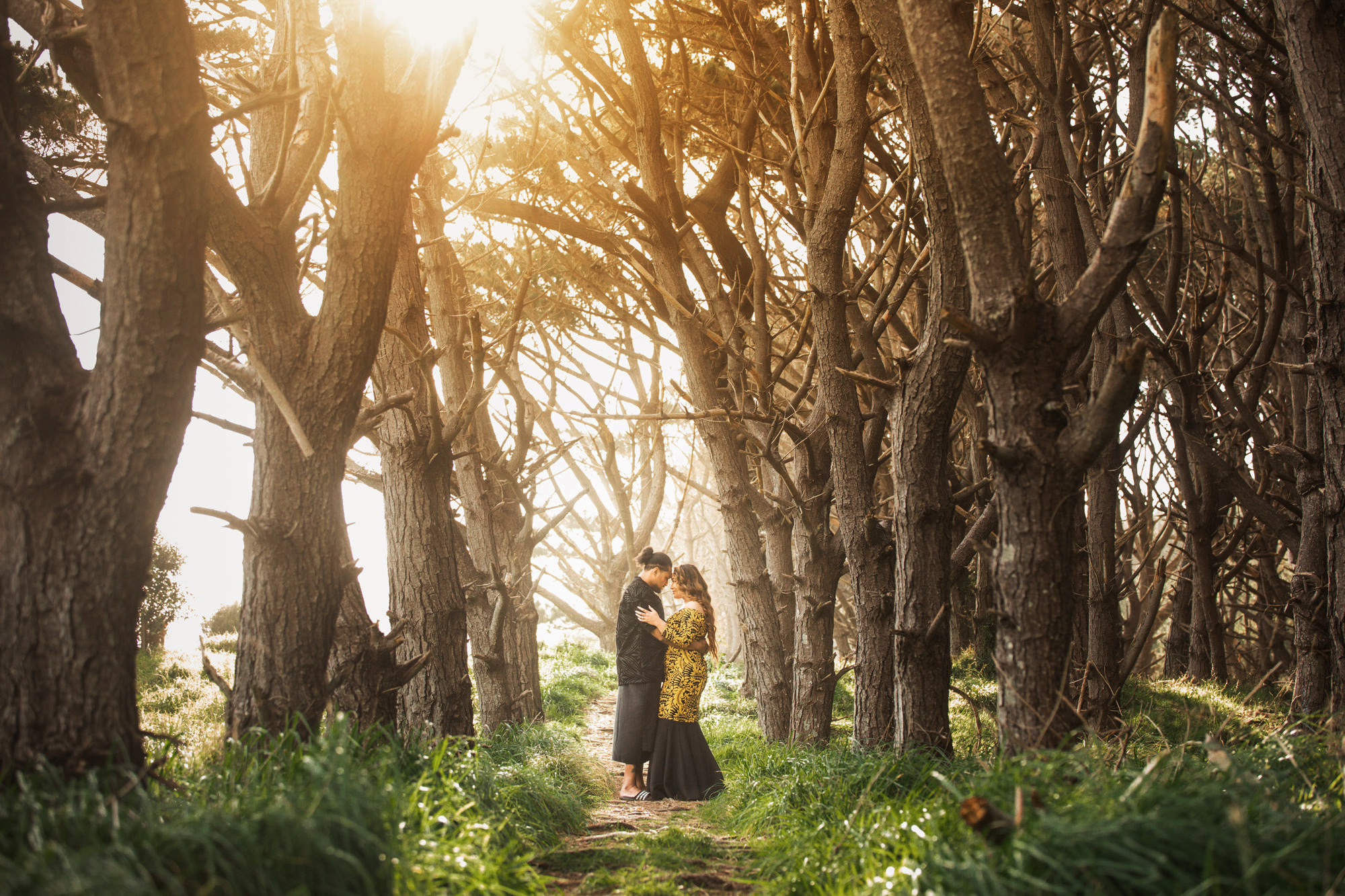 muriwai new zealand engagement photo