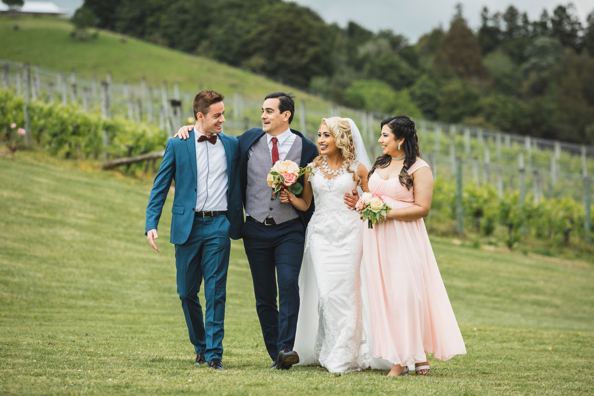 auckland wedding bridal party