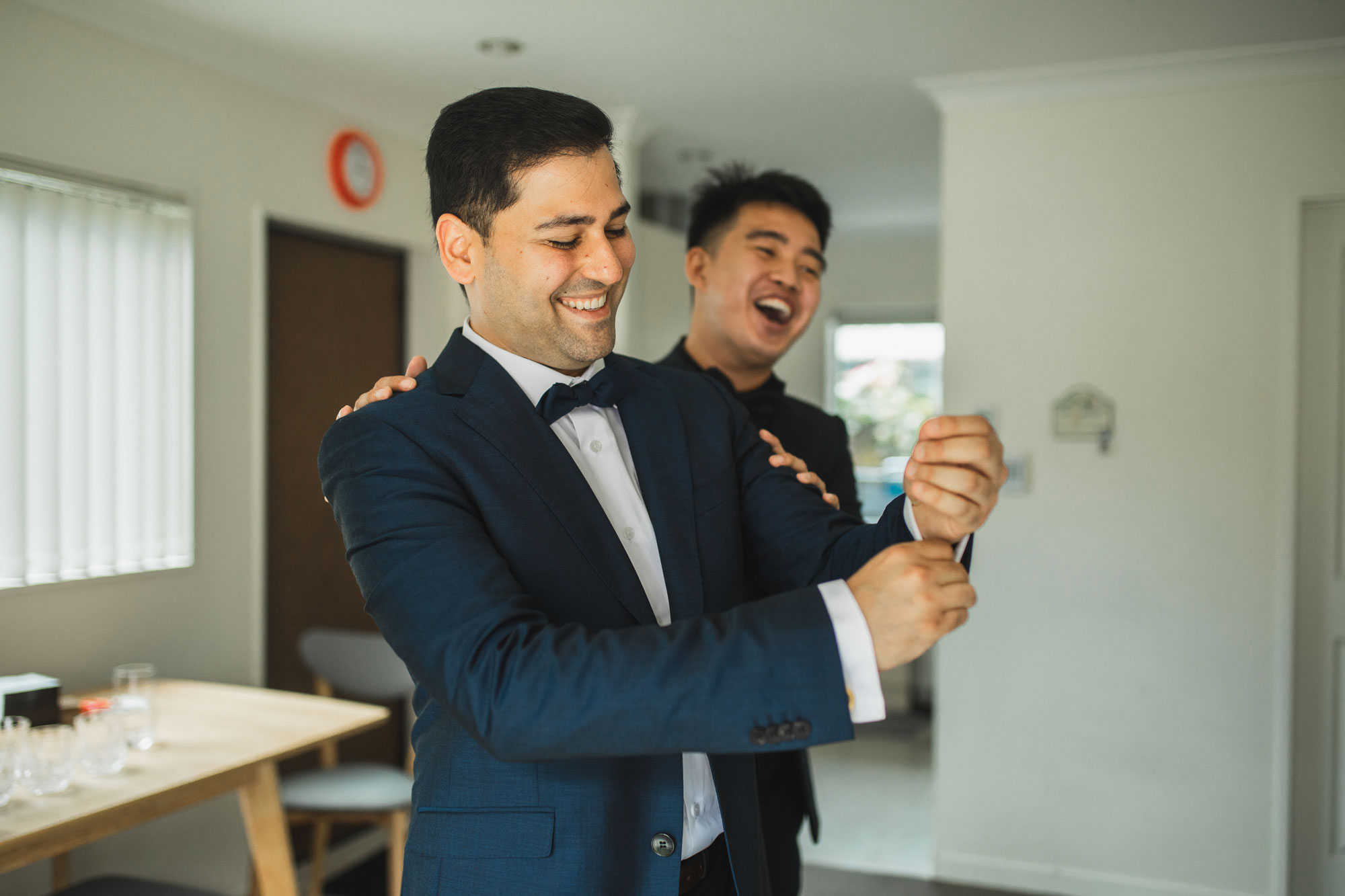 auckland wedding groom and best man