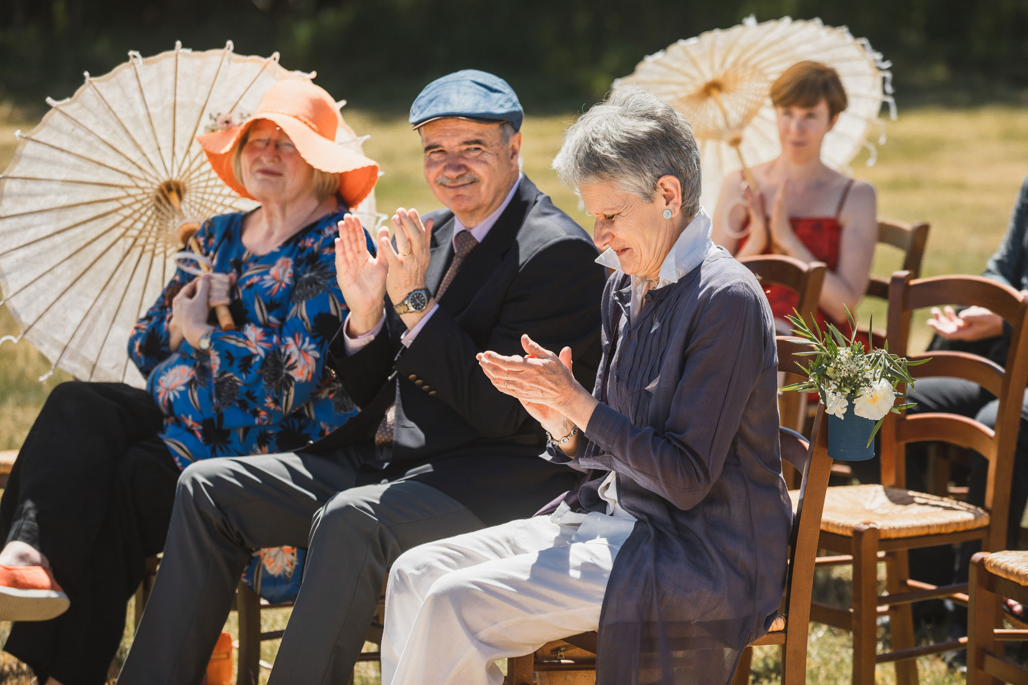 christchurch wedding parents of the groom clapping