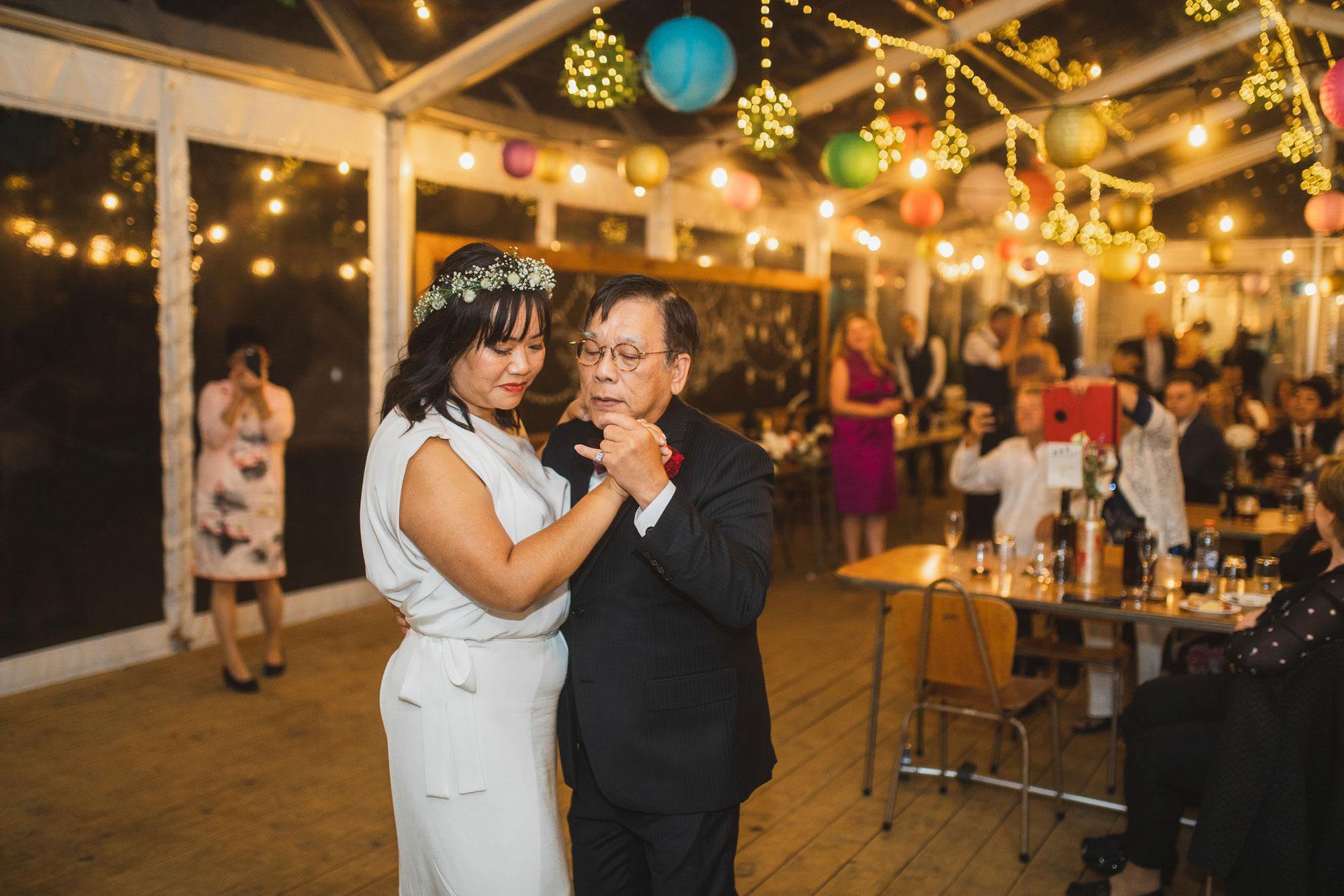 auckland waterfall farm wedding father daughter dance