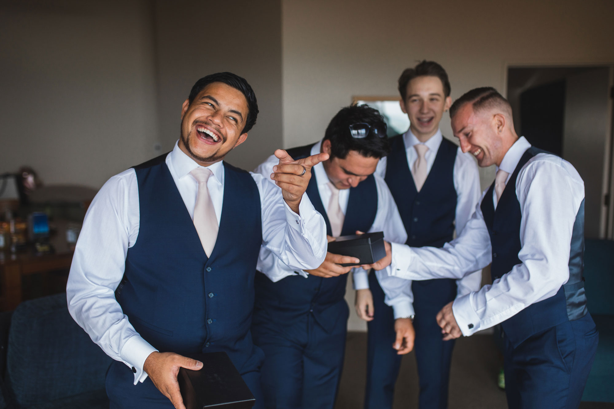 castaways waiuku groomsmen having fun
