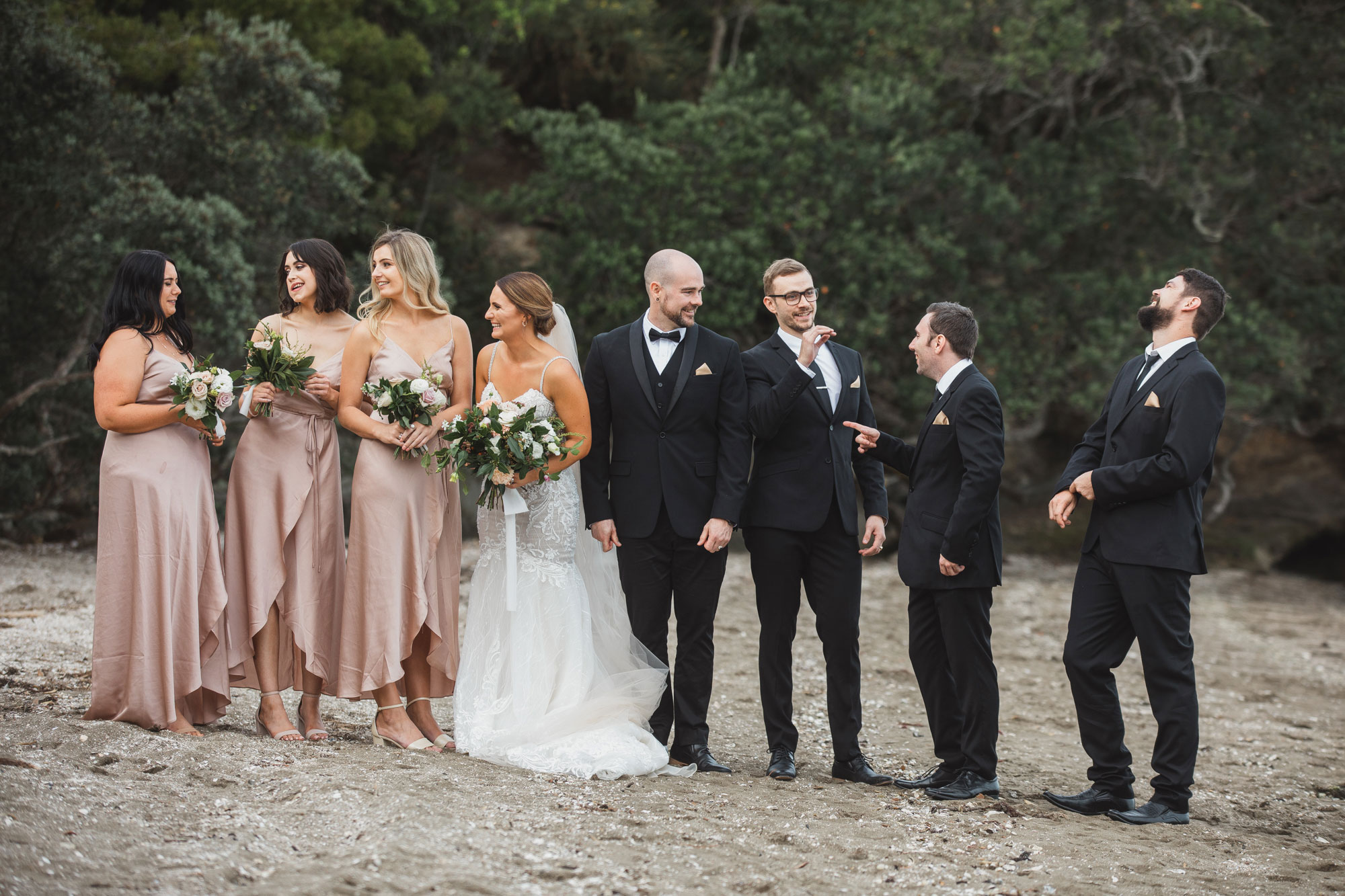 auckland bridal party photo