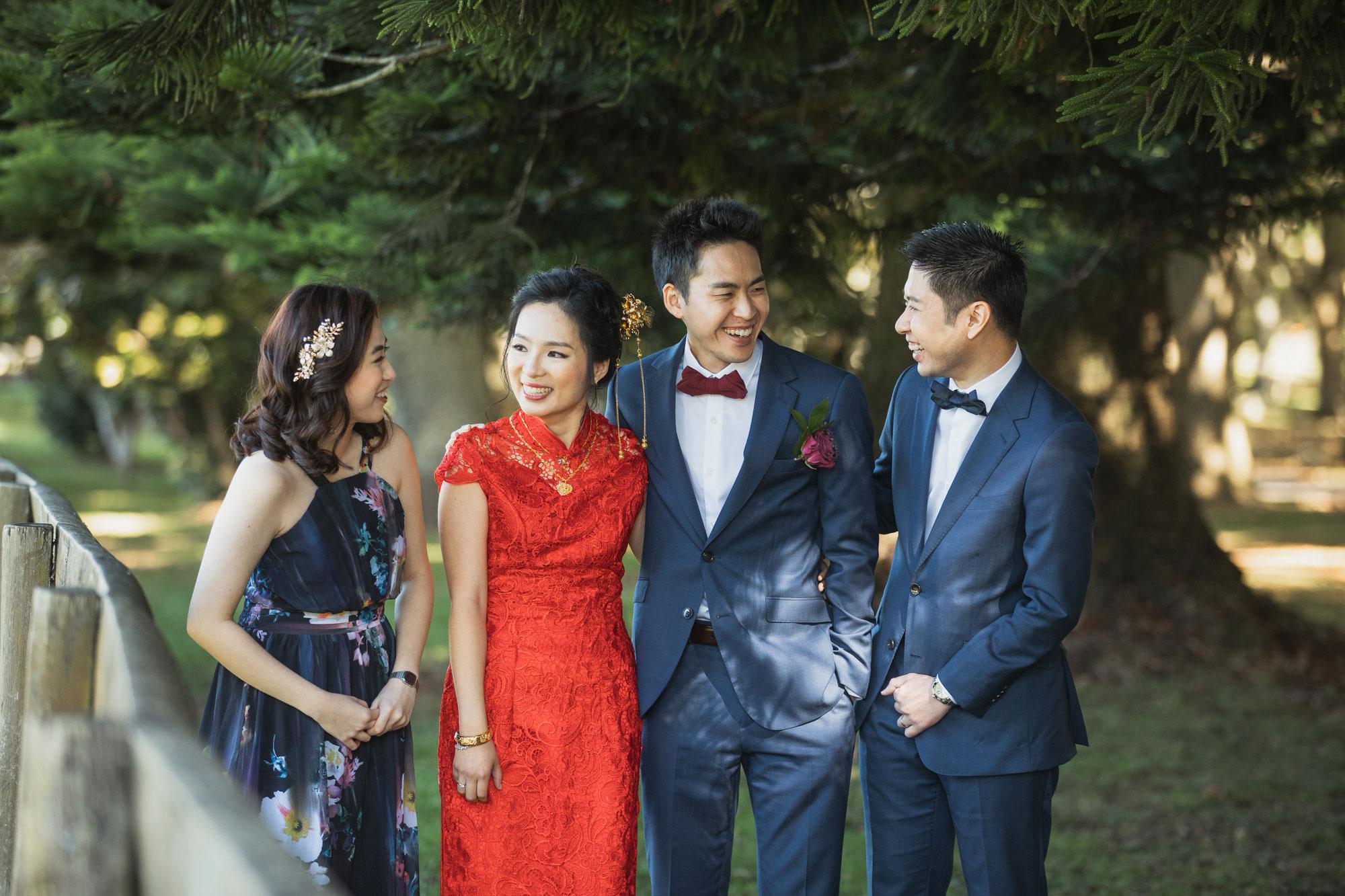 auckland wedding party photo