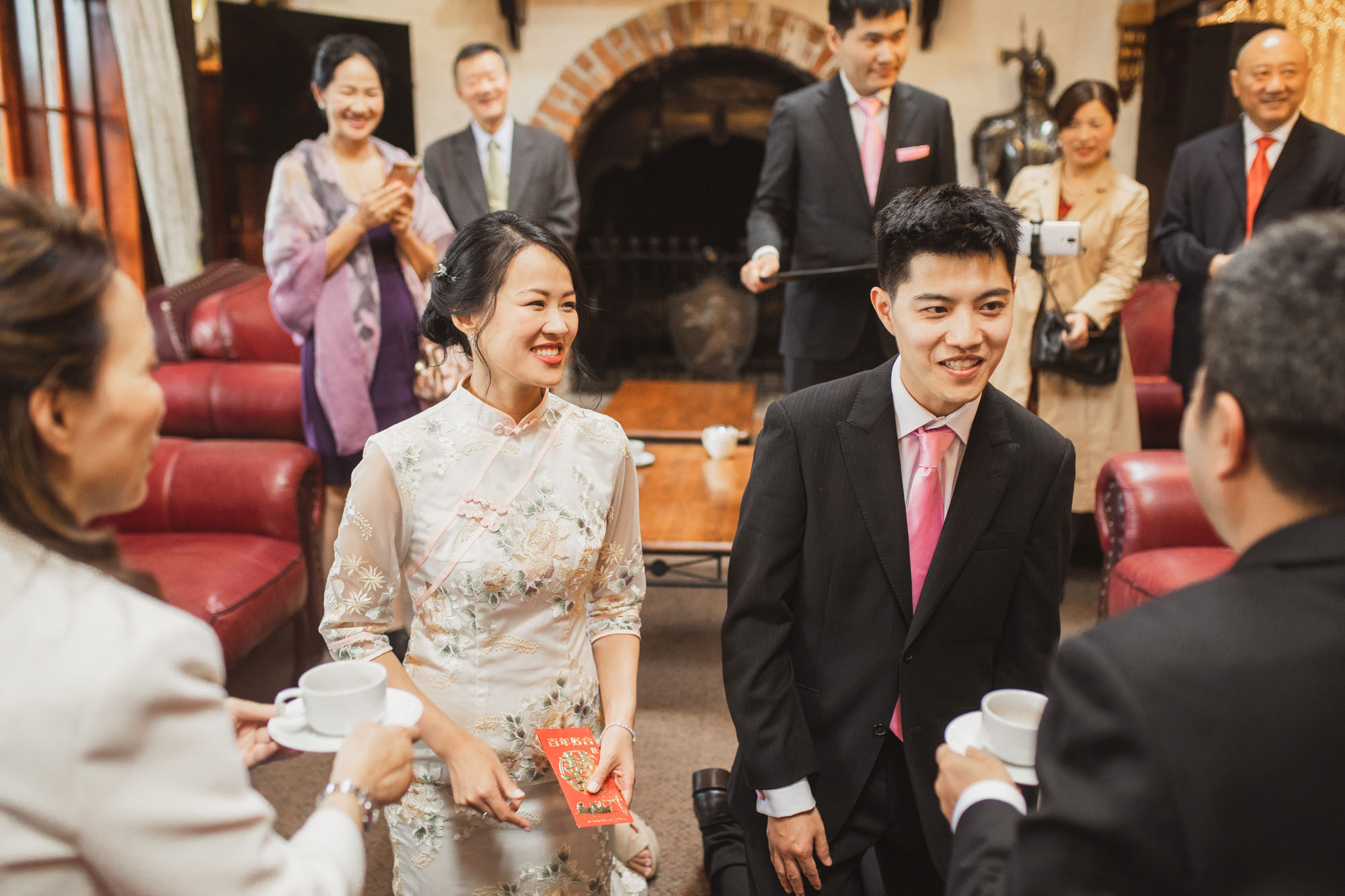 bride and groom tea ceremony