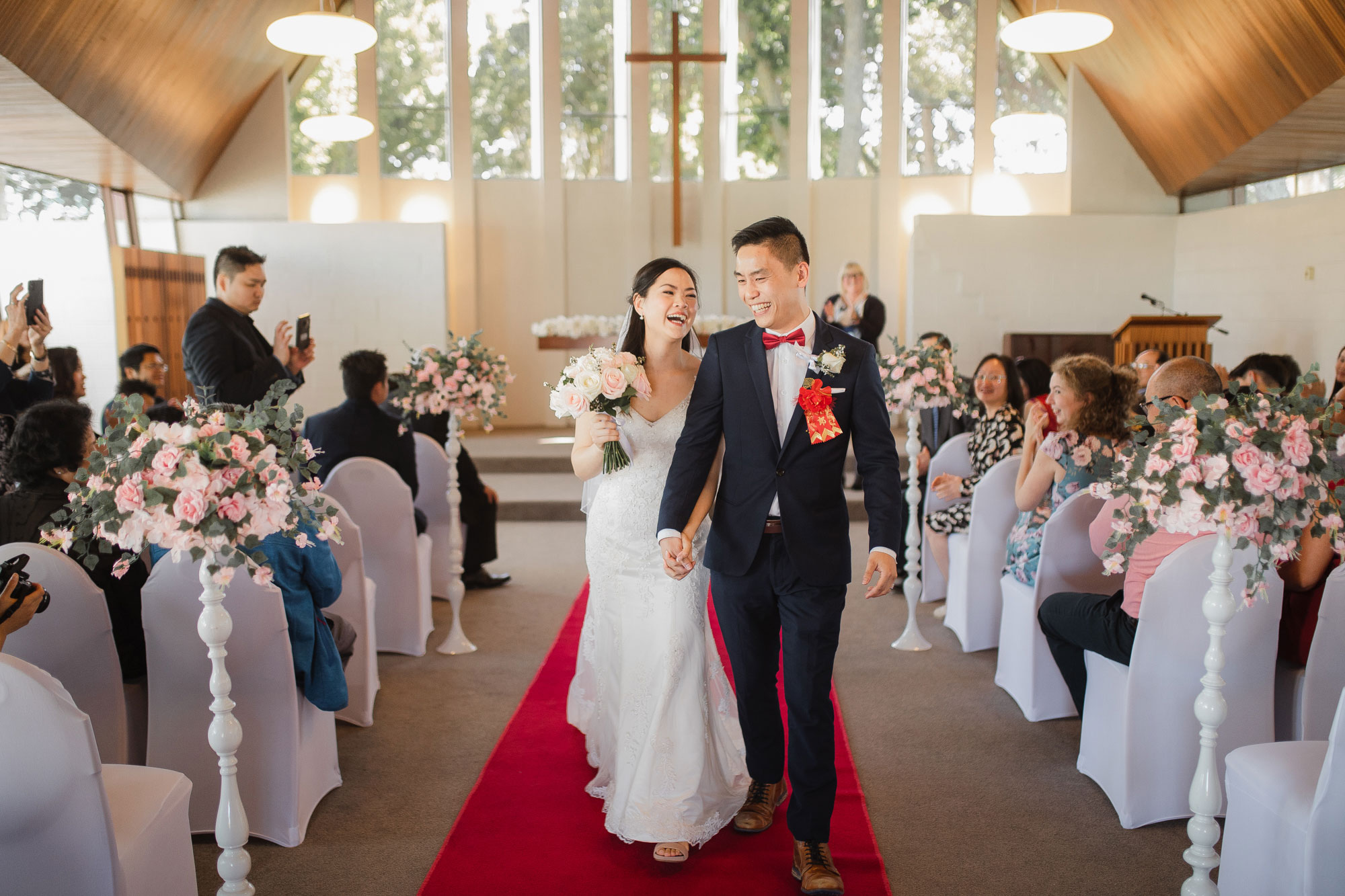 auckland wedding couple recessional
