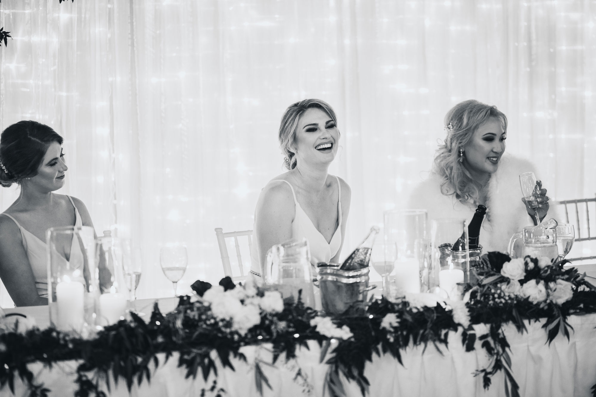 maid of honour laughing