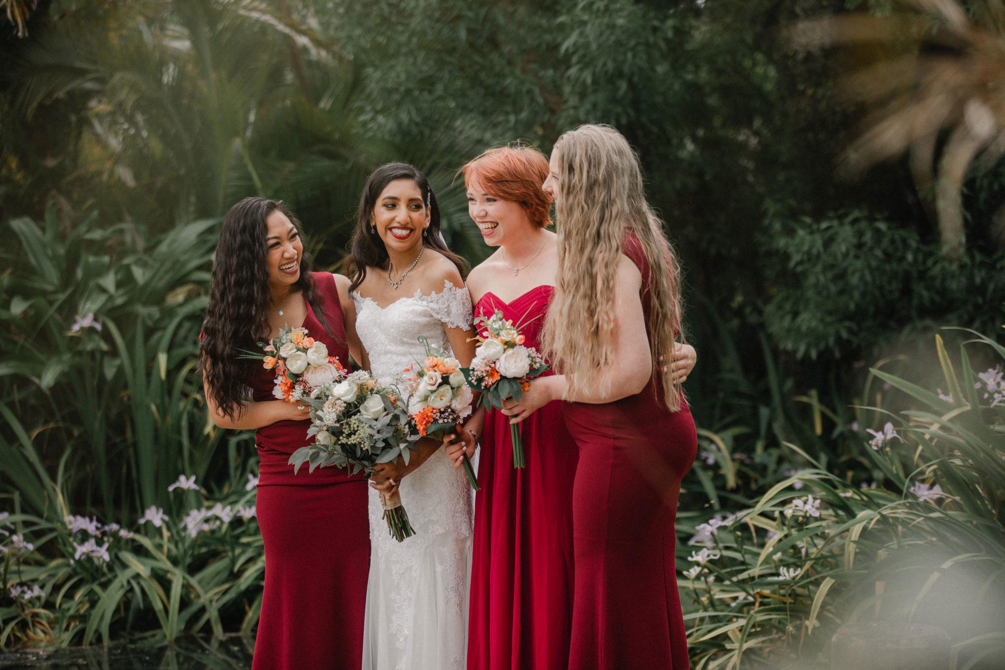 bridal party shoot at settlers manor